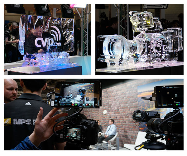 Images from BVE Ice Sculptures and Camera Screen