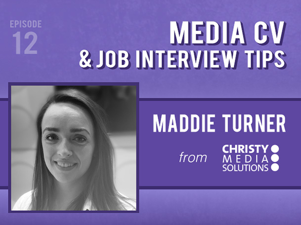 Backlight Podcast - Episode 12 - Media CV and Job Interview Tips - With Maddie Turner