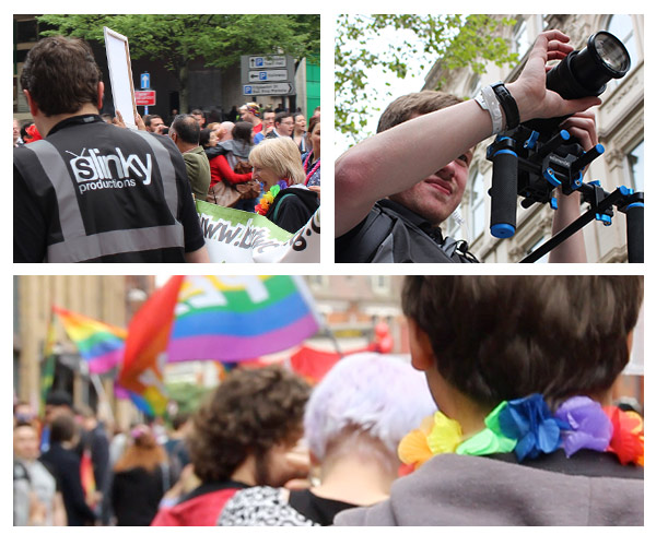 Birmingham Pride Slinky working images at event