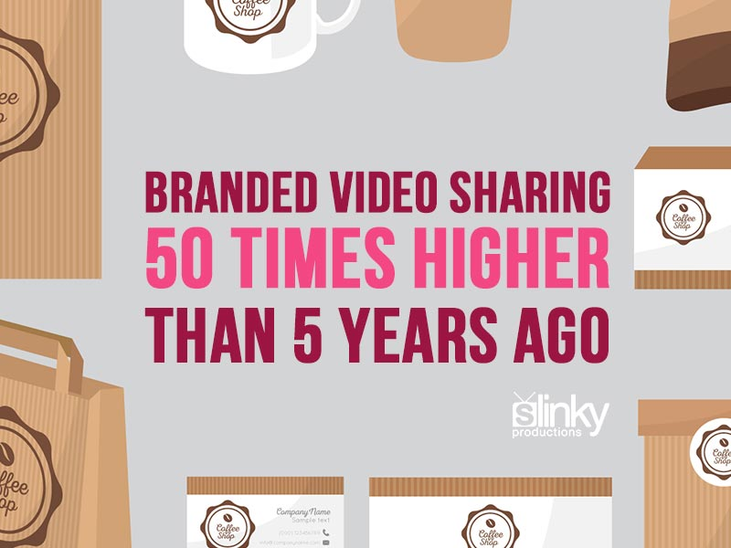 Branded video sharing increasing.