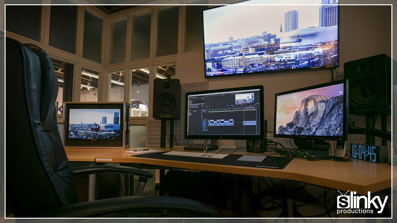 Updated Edit Suite hire with Adobe CC software.