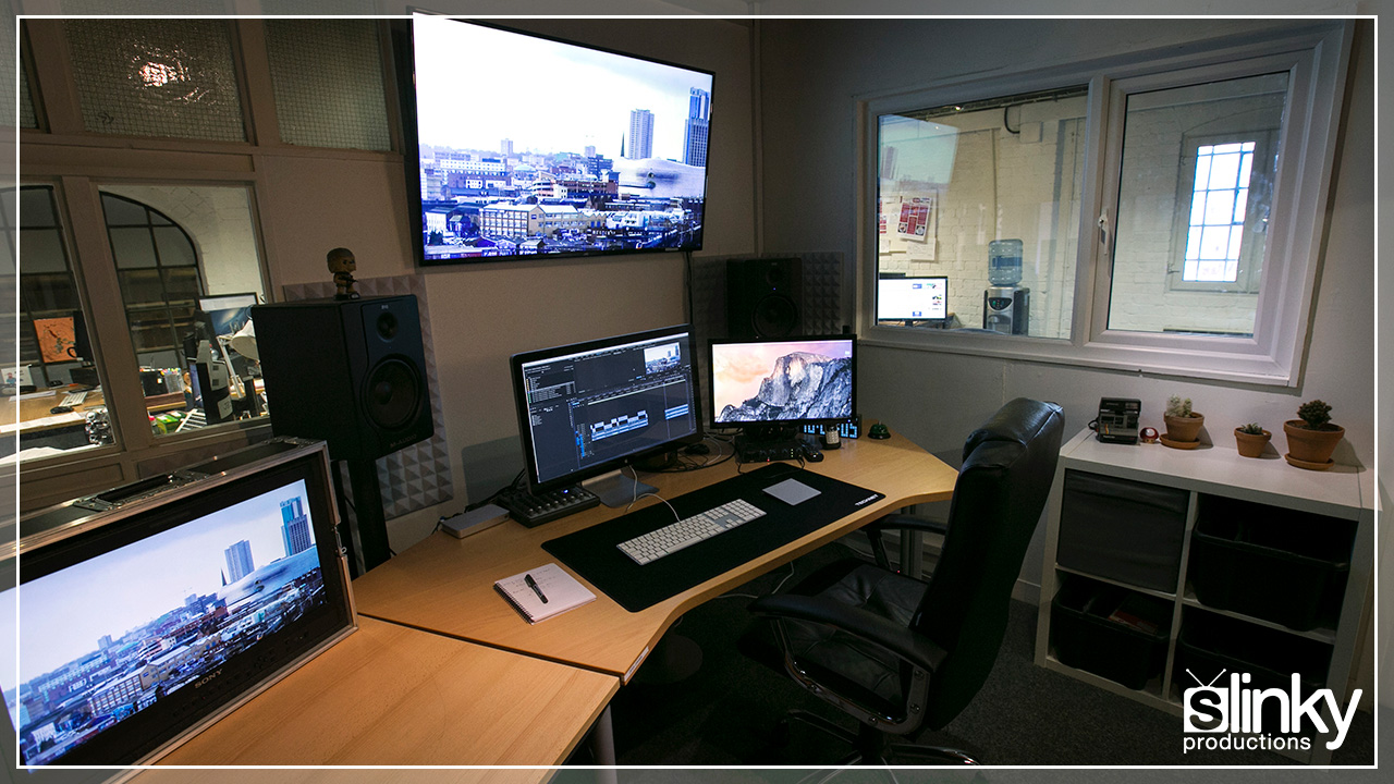 Fully updated editing production suite with Adobe software.