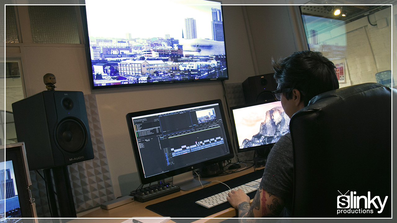 Edit Suite available for hire at Slinky Productions.