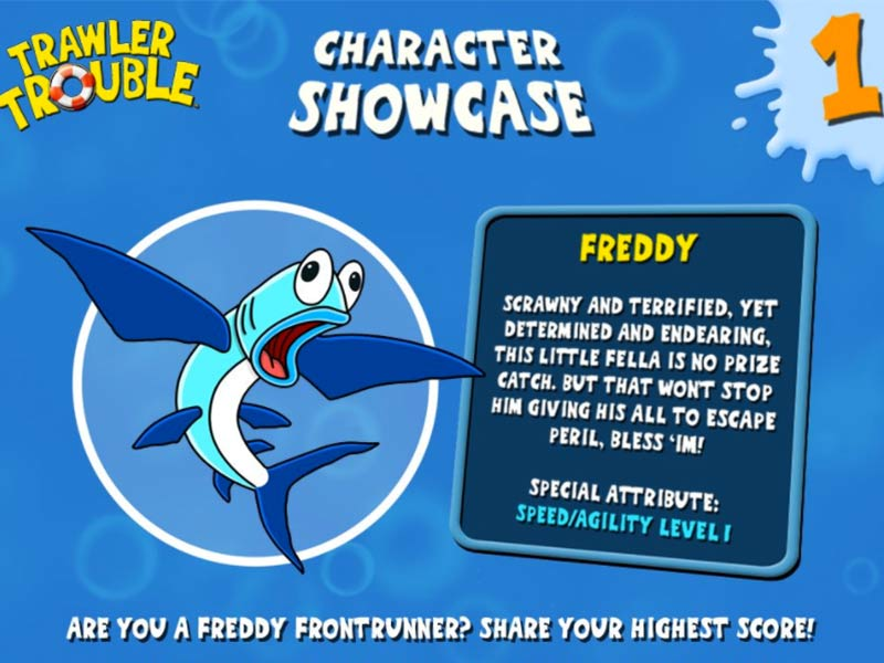 character profile of freddy from trawler trouble