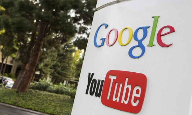 Sign of Google and Youtube logos advertising.