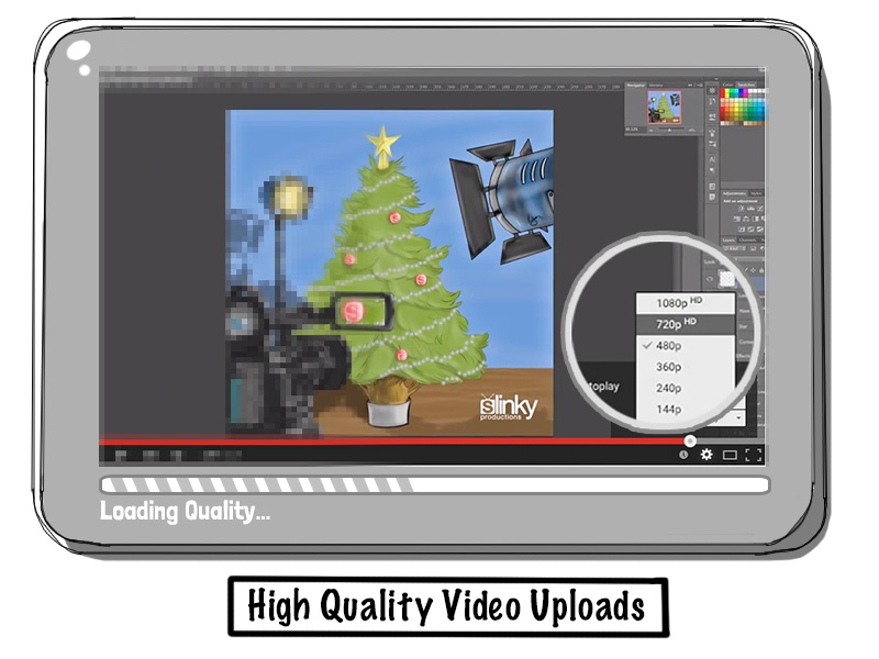Tablet streaming high quality video using YouTube