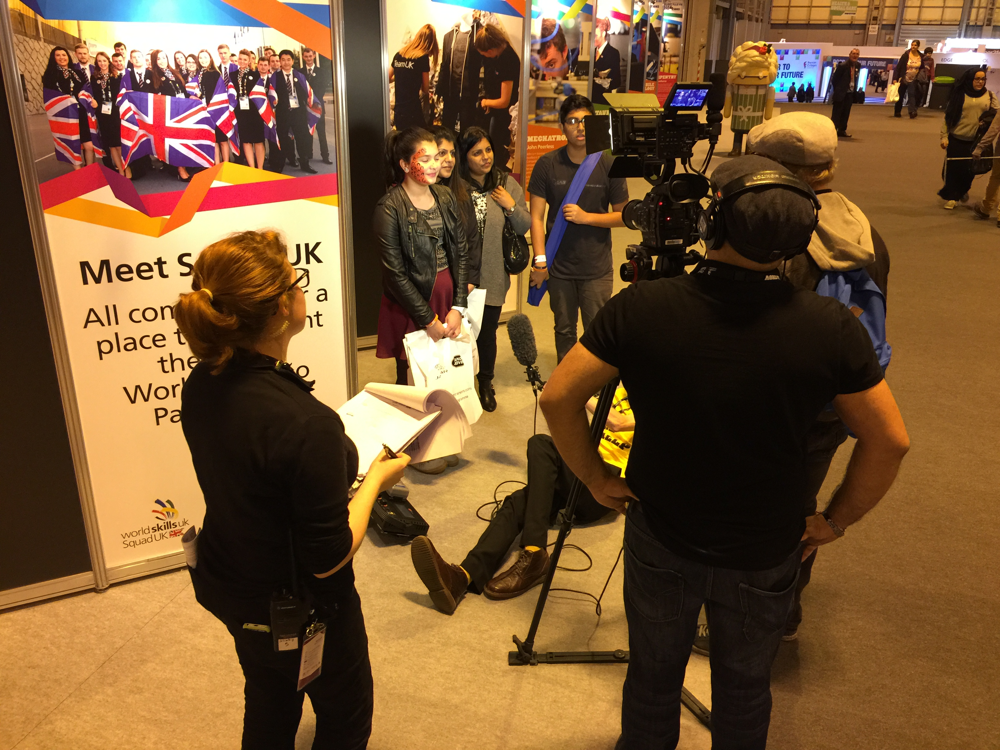 Photo from The Skills Show (Filming an interview)