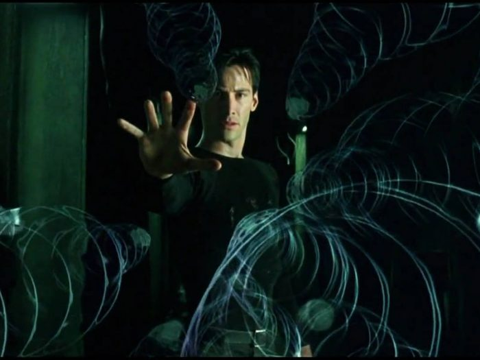 freeze frame from the matrix