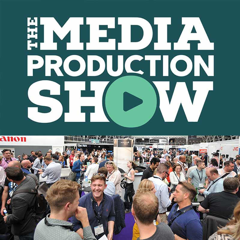 Media Production Show logo with crowds.