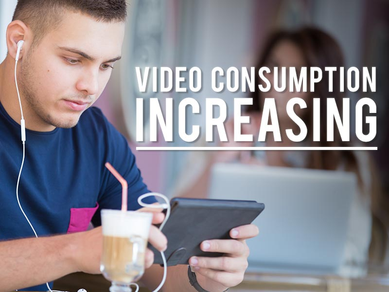 Marketers say video consumption is increasing.