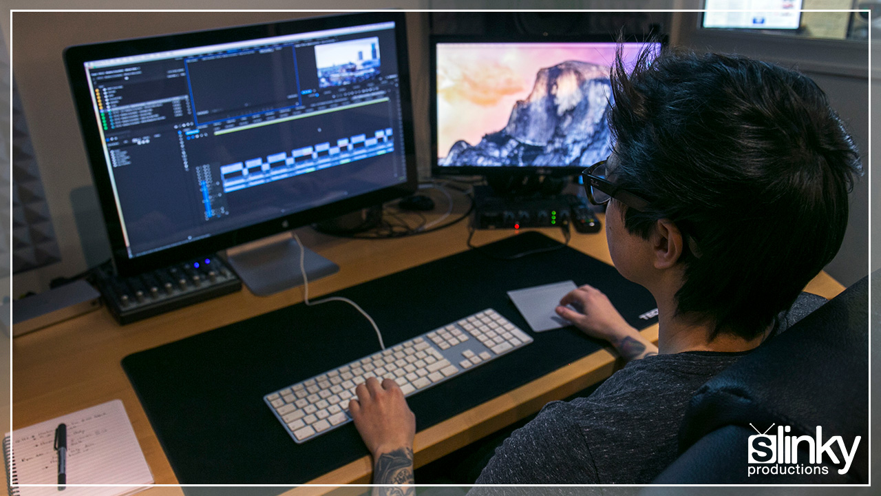 Editing Suite hire with editor at Slinky Productions.