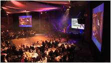 Photo from Pride ball 2013, stage and crowd