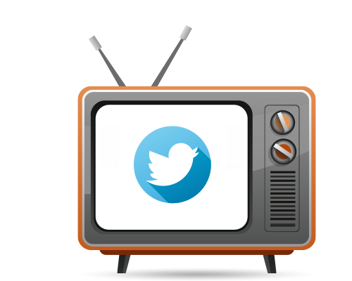TV with Twitter Logo