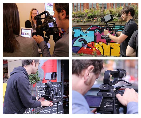 behind the scenes stills from filming for recruitment video for N Brown