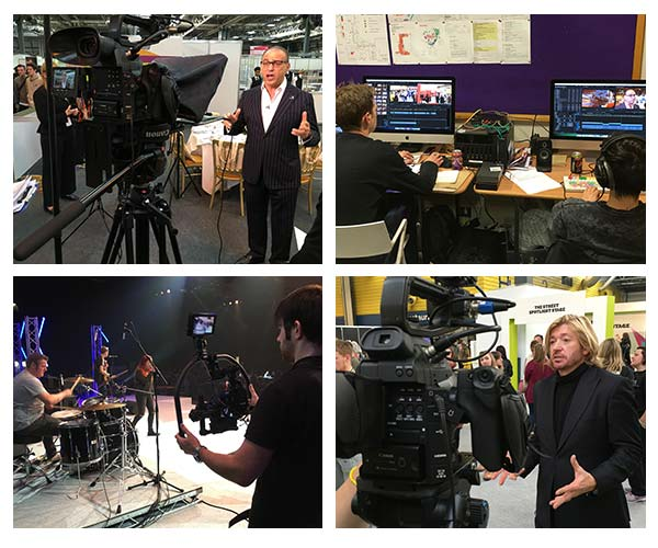 behind the scenes photos from filming for the highlights video for Skills Show 2015