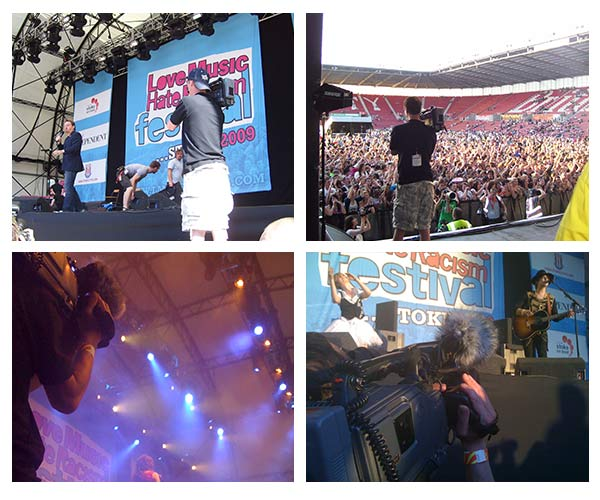 behind the scenes pictures from filming for the LMHR festival documentary