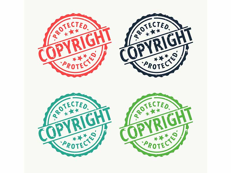 graphic of copyright stamps