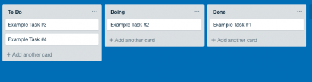 example of chanson board from the guide to kanban