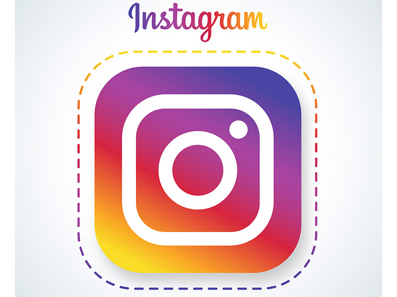 Instagram social media app logo.