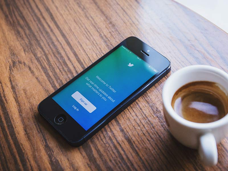 twitter sign in page displayed on iphone