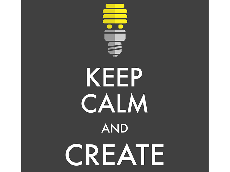 graphic of keep calm poster