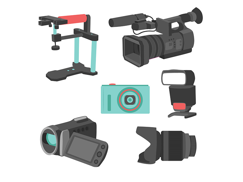Multi-camera rigs and filming equipment graphic.