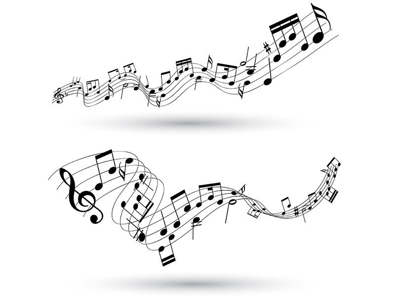 graphic of music notes