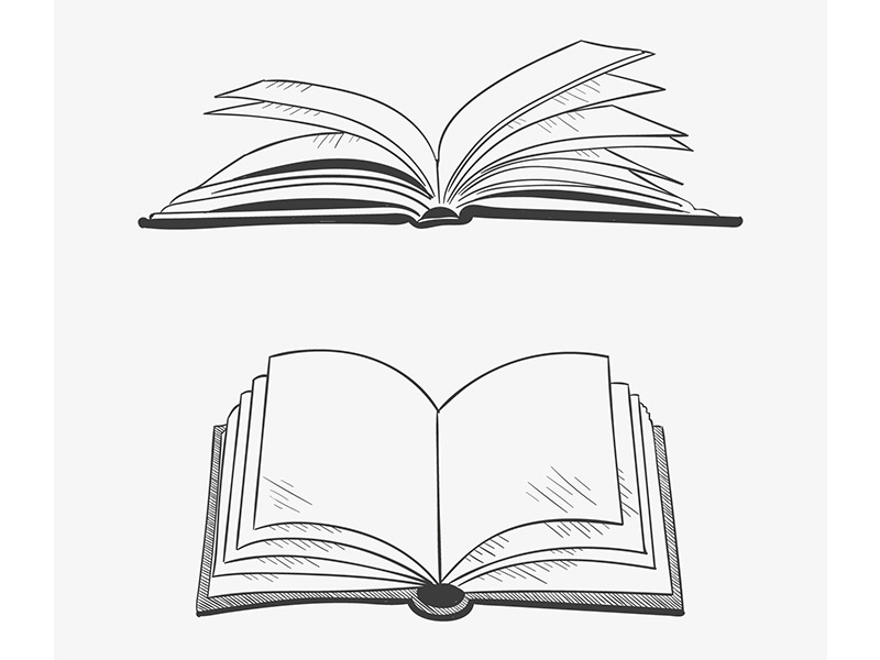 graphic of open book