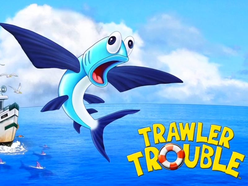 promotional cartoon for trawler trouble