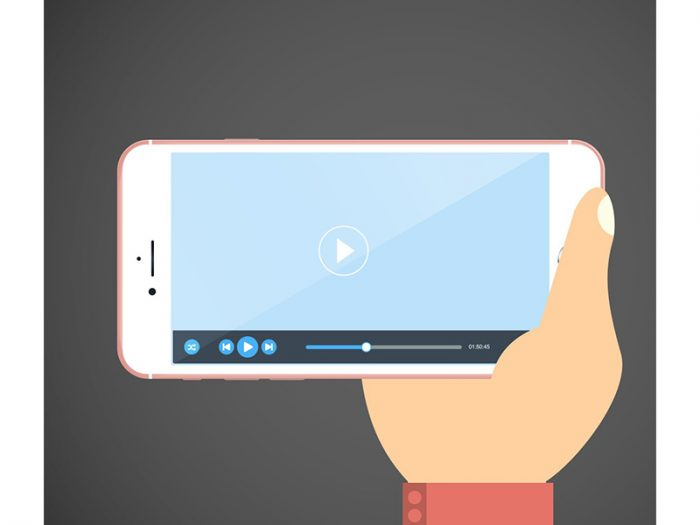 phone video player graphic