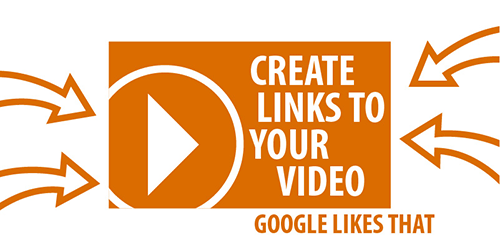 Arrow links to video for Google and website graphic.