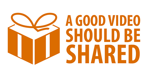 Present gift text says a good video should be shared viral