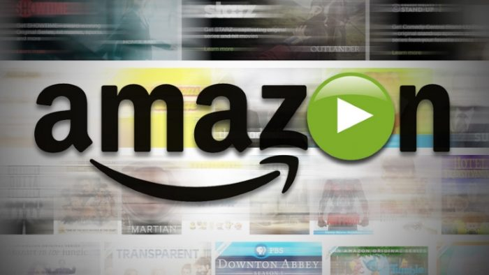 Amazon direct logo with blurred background.