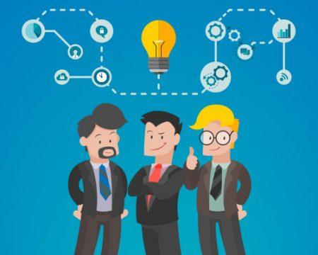 Business men with idea for Video Marketing Script