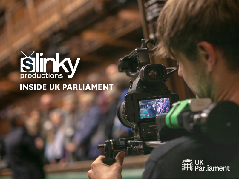 Slinky Inside UK Parliament
