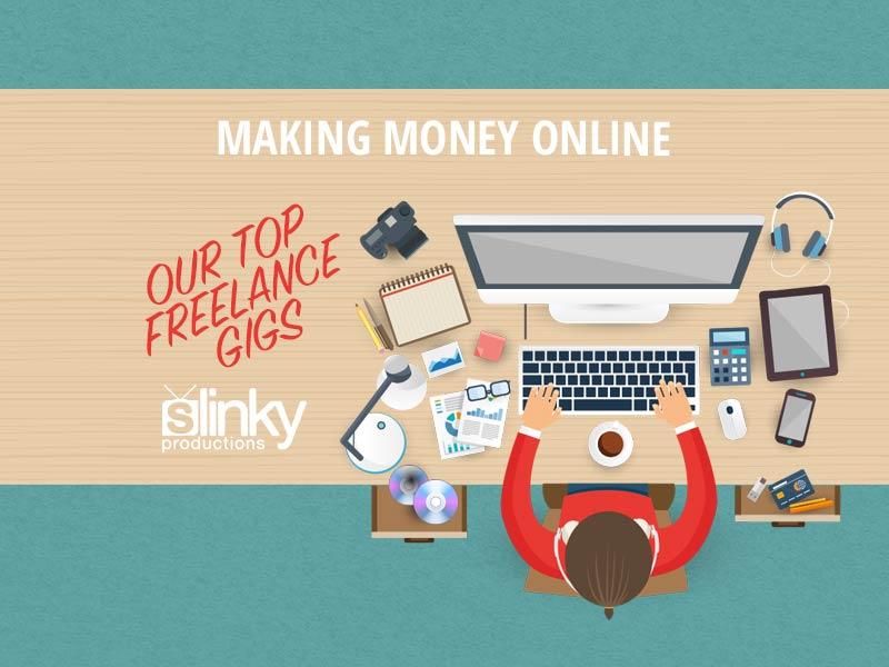 making,money,online,desktop,hands, vector