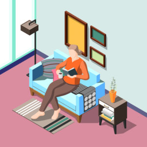 §night time routine, woman reading a book