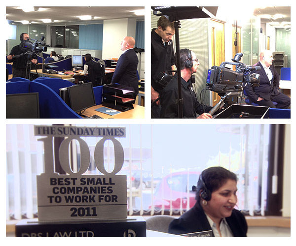 behind the scenes photo of slinky productions produced company profile video for DBS law