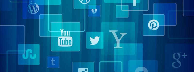 video on social media logos